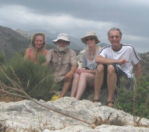 The Four Sailors at the peak near Sant Elm