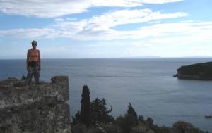 Sue atop Parga castle