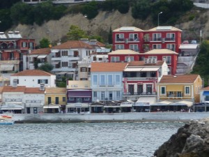 Parga sea-front houses