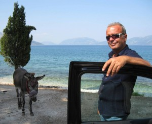 Denis and a donkey