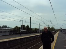 Chris at Alnmouth station