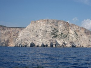 Caves off the west coast of Zakinthos