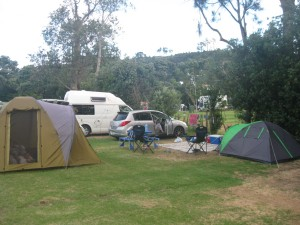 Our camp at Hahei