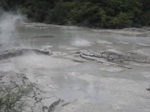 Boiling mud lake