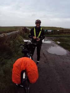 Setting off in the wet